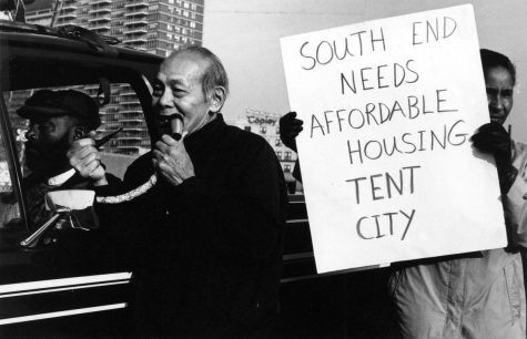 South End residents protested affordable housing losses in the 1960s. Today, activism is far more rare. Photo provided by Northeastern University, Archives and Special Collections Division.