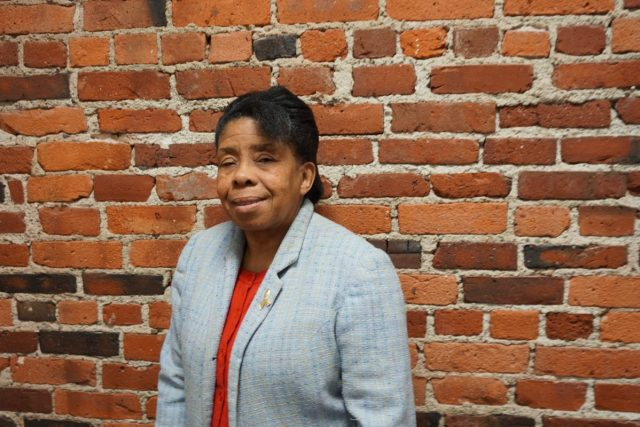 Cheryl T. Antoine is a local business owner and long-time Roxbury resident. Photo by Yumeng Ren.