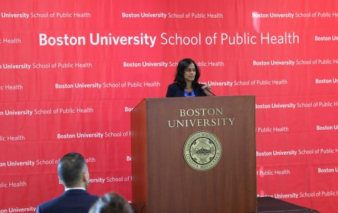 Nusrat Choudhury, deputy director of the national ACLU's Racial Justice Program spoke last week at Boston University School of Public health. Photo courtesy of Boston University.