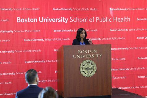 Nusrat Choudhury, deputy director of the national ACLU's Racial Justice Program spoke last week at Boston University School of Public health. Photo courtesy of Boston University.