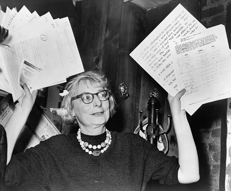 Jane Jacobs, a NYC activist who died in 2006, argued that economic and social diversity creates stronger and more successful neighborhoods. Photo via Wikimedia Commons