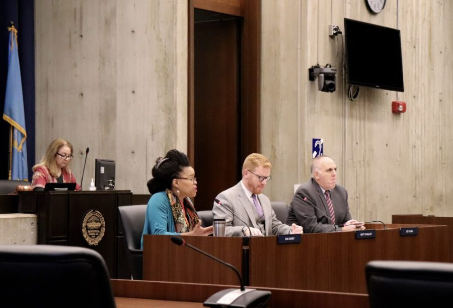 Councilors Kim Janey, Matt O'Malley and Ed Flynn led the hearing on public health disparities in Boston communities of color
