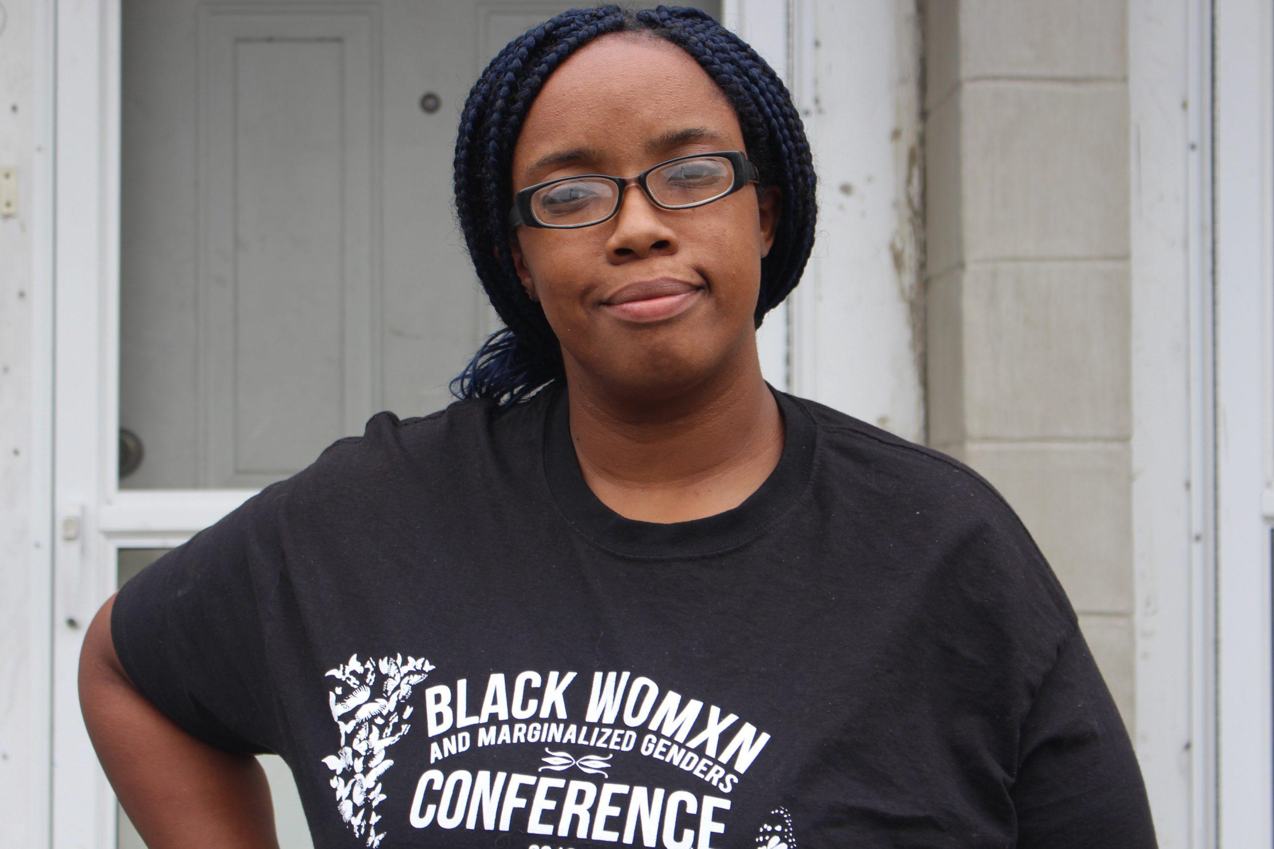Monica Cannon-Grant outside her home. Photo by Lex Weaver.
