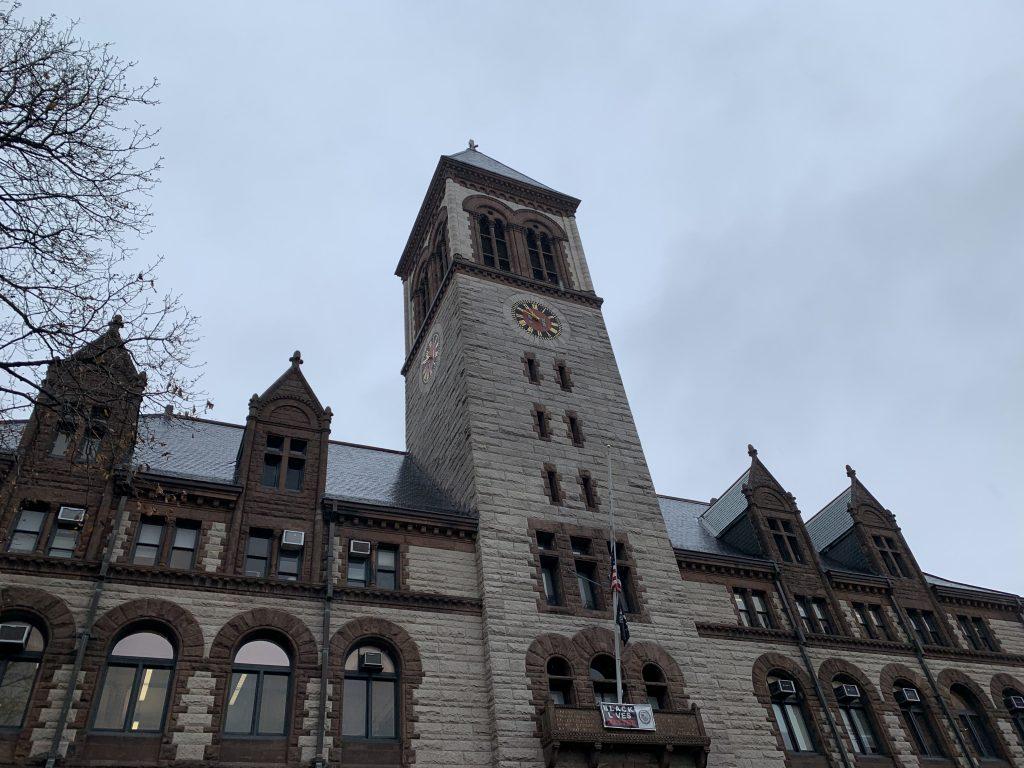 Cambridge City Hall. Photo by Aidan McGovern.