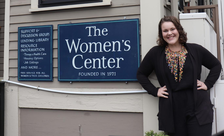 Jessye Kass is the director of the Cambridge Women's Center. Photo by Eileen O'Grady.