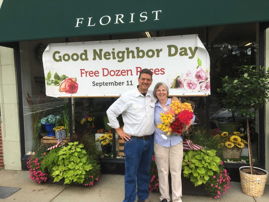 George and Barbara Sawin own Davis and Sawin Florist in West Roxbury. Photo by Jordan Erb.