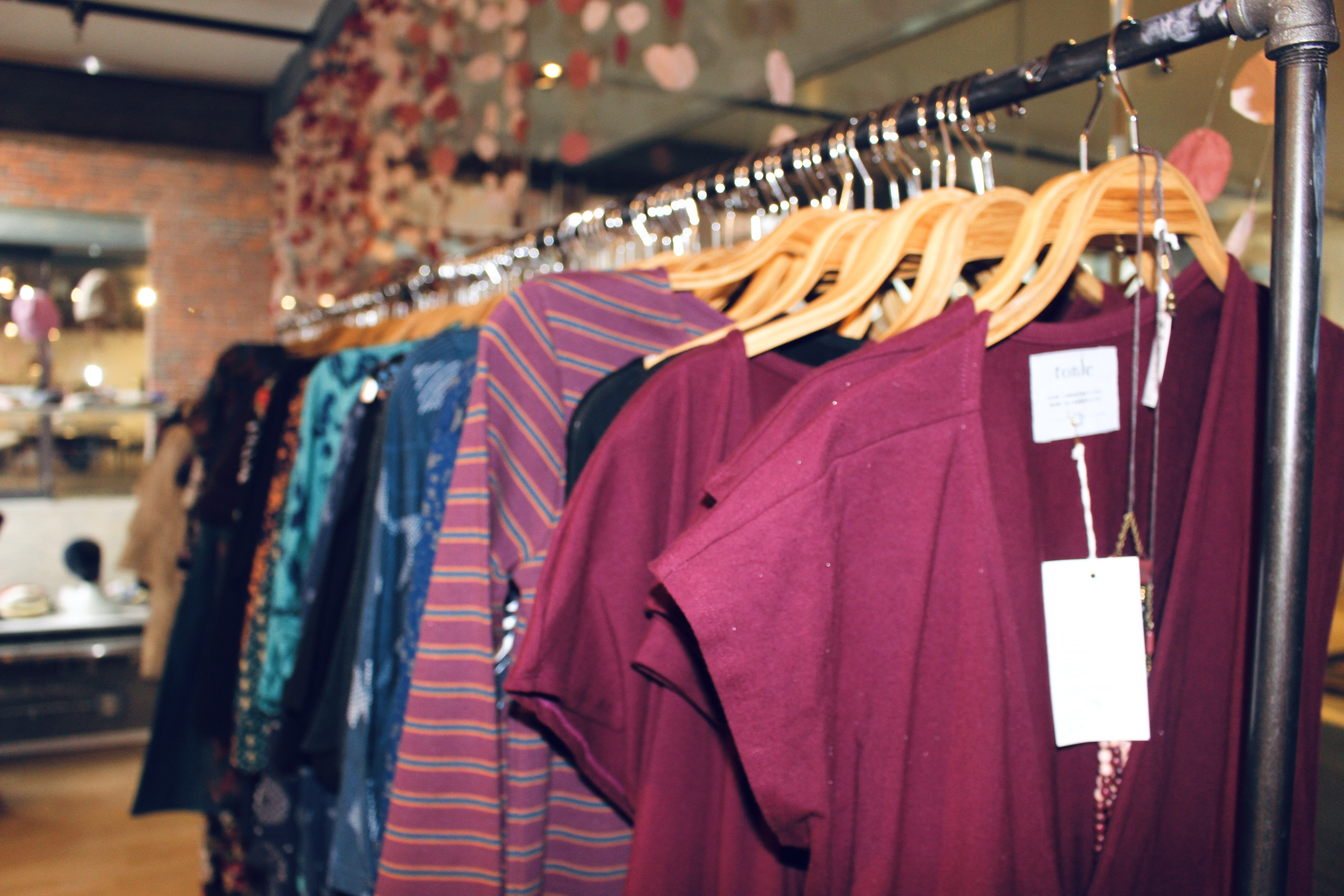 Savoca said 50 percent of the merchandise at Ash and Rose is made in the U.S. Photo by Alexa Gagosz.