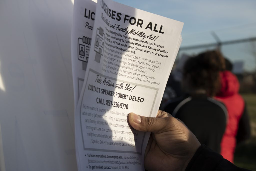 Legislators and activists handed out theses flyers at rallies and protests. Photo by Elizabeth Torres.