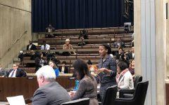 Councilor Lydia Edwards addresses City Council on Wednesday, Jan. 15.