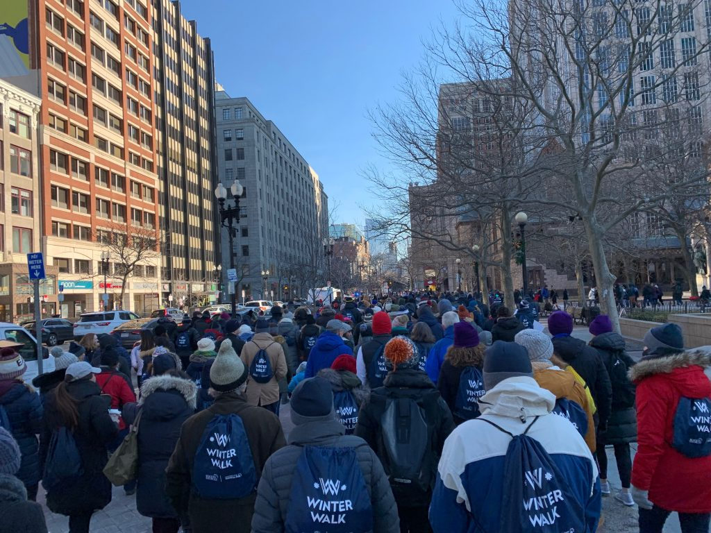 Hundreds gather for Boston's Winter Walk,