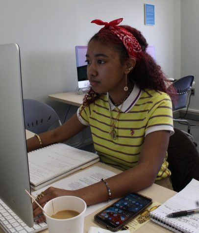 Melodie Arya, a student at MassArt, makes her first Wikipedia edit on feminist poet Huamo Tso.