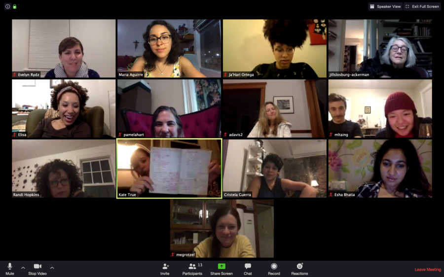 Women joined the first virtual recipe exchange via Zoom from their homes in the U.S., Ecuador and India.