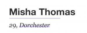 misha thomas