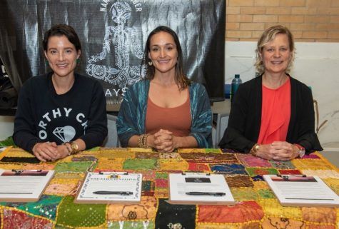 Nicoletta Longo (center) founder of recovery and wellness group NamaStay Sober.