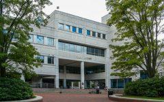 Snell Library, Northeastern University campus, Boston, MA.
