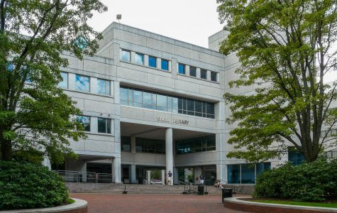 Snell Library, Northeastern University campus, Boston, MA.
