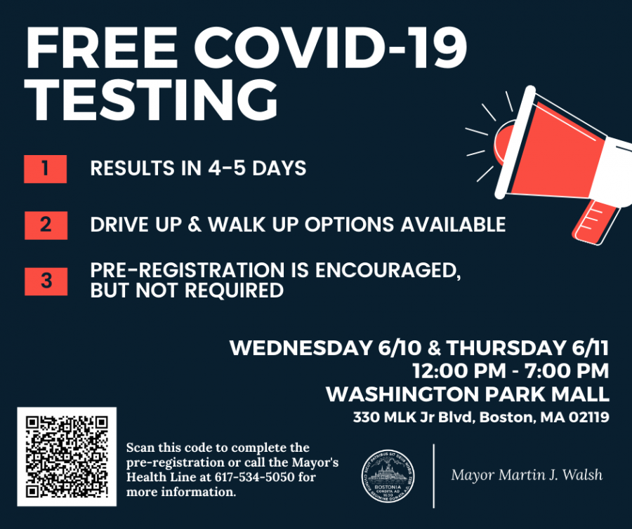 City of Boston is partnering with the East Boston Neighborhood Health Center to offer free and confidential COVID-19 testing