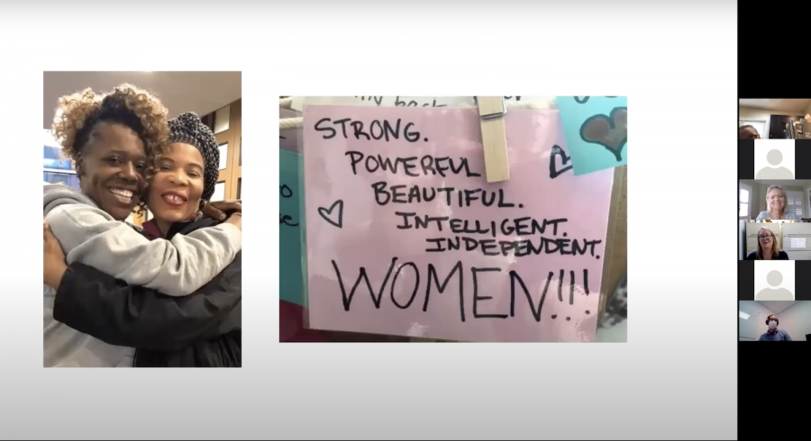 "Screenshot of the Boston Health Care for the Homeless Program's event titled ""Caring for our Most Vulnerable Patients: Women"" via Zoom."