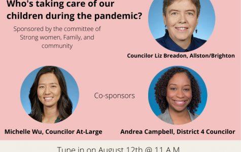 Poster for the Boston City Council on the childcare crisis in Boston. Photo Courtesy: Boston City Council