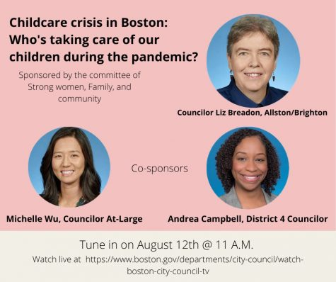 Poster for the Boston City Council on the childcare crisis in Boston. Photo Courtesy: Boston City Council