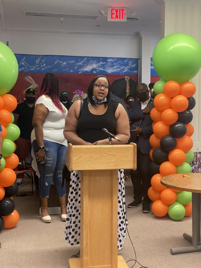 Emerald Garner, the daughter of Eric Garner, spoke at the event
