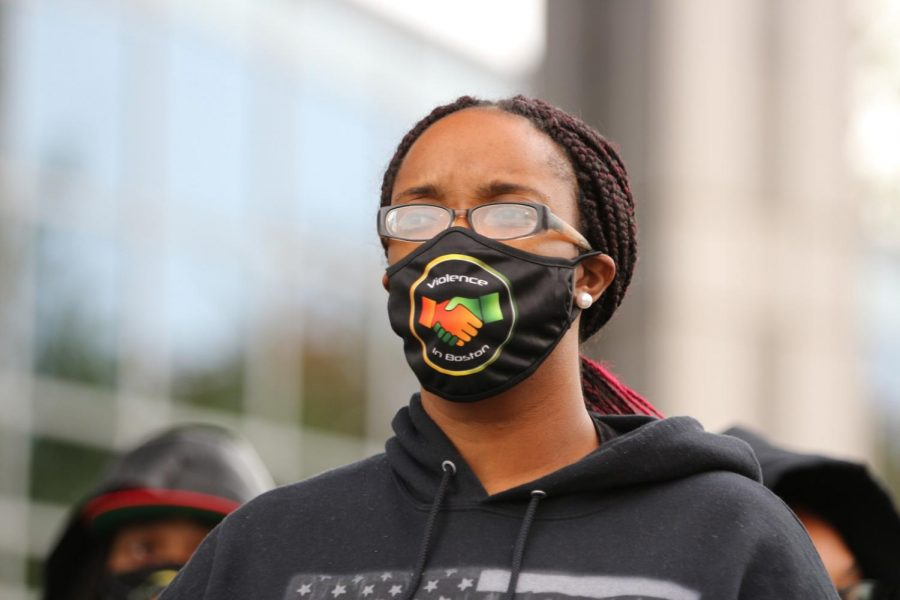 Boston activist Monica Cannon-Grant, organizer of the Protect Black Women rally.