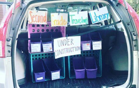 Changemaker: Teacher designs traveling library to lend books to students during COVID-19