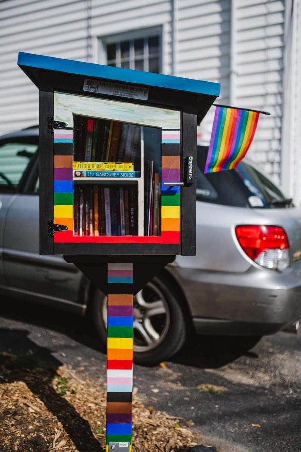 The Quinn Way anti-racist library by Fagone in West Roxbury.
