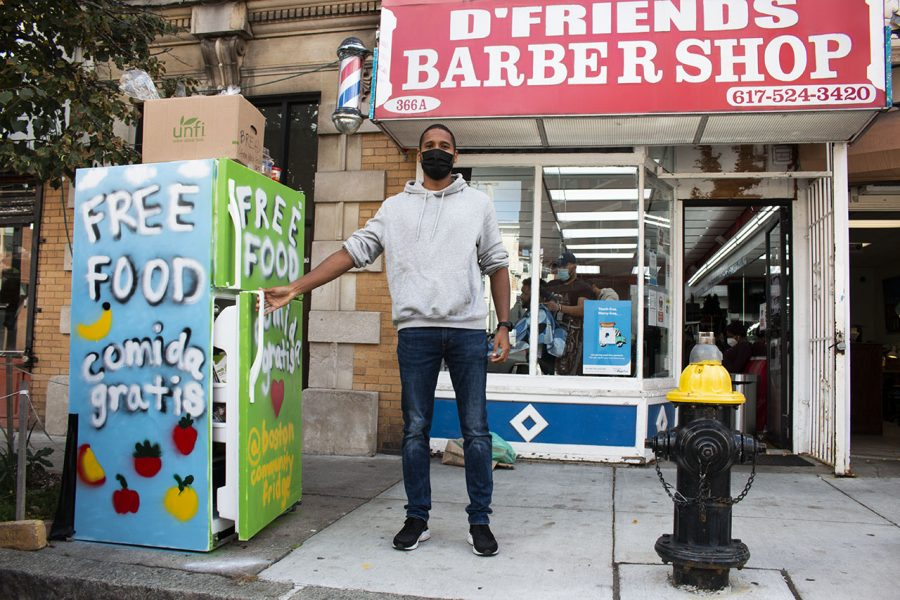 Josiel Gonzalez, 27, one of the main organizers for the JP fridge, said he is proud of what can be accomplished when community members come together — especially during the pandemic. Inspired by the rapid spread of community fridges in New York City, Gonzalez and his friends were motivated to see if something similar could take root in Boston.