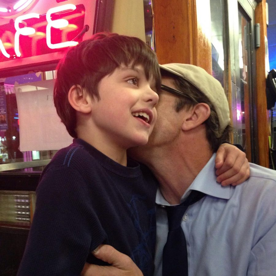 Jeff Howe and his son