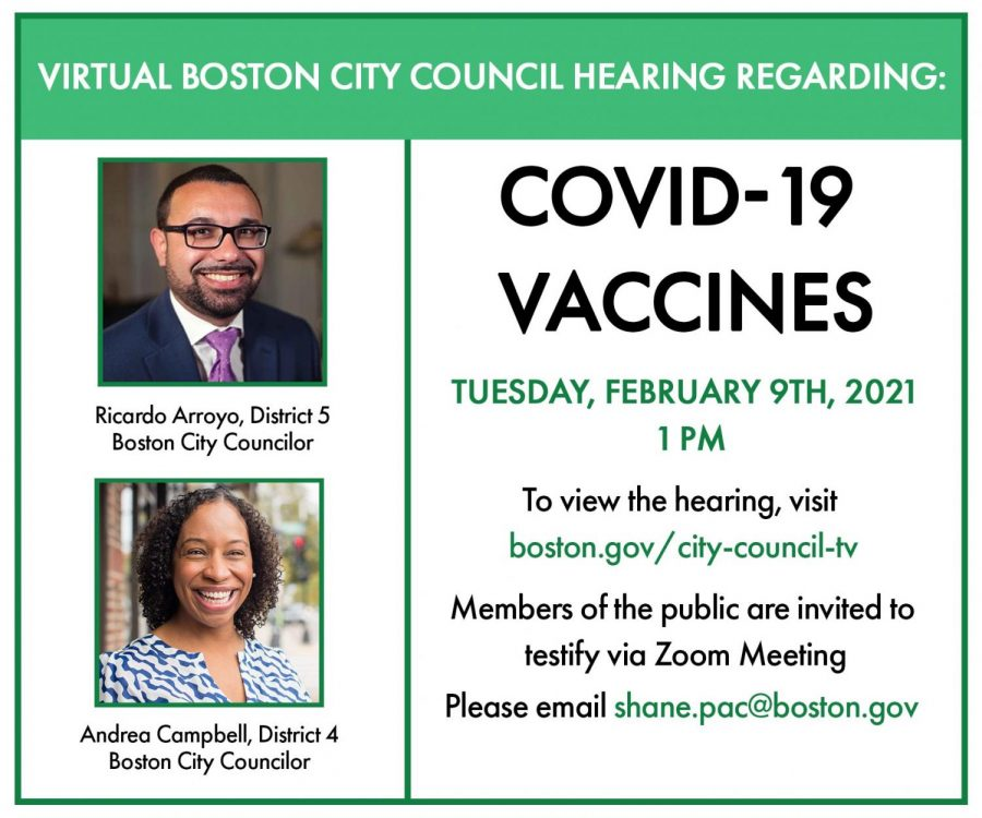 City council hearing to discuss strategies that will ensure the COVID-19 vaccine is equitably distributed, especially to communities who are hardest hit.