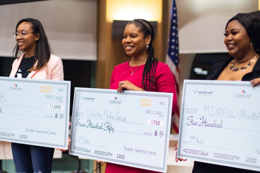 Roxbury Innovation Center Pitch Night winners.