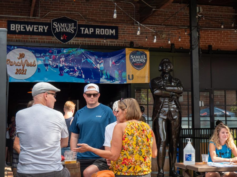 One of the three main stages is located at the Samuel Adams Brewery and tap room. The local brewery was the main sponsor behind this year's Porchfest.