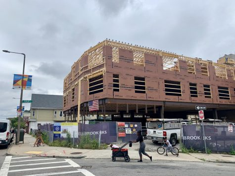 A look at the future site of the Dorchester Food Co-op at Bowdoin and Topliff Streets in Dorchester.